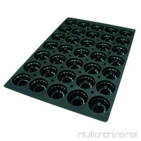 "Lekue Professional Baking 35 Cavities Savarin Mold  23.6"" x 15.7""  Black - B01EC96BSE"