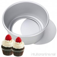 "Aluminum Round Cake Pan 6"" -Non-stick Leakproof Round Bakeware Pan - Baking Mold with Removable Bottom  Chiffon/Cheesecake Pan - B07DPGQSL6"