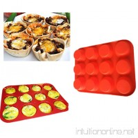 VWH Silicone Muffin and Cupcake Baking Pan Non-stick Baking Mold - B06Y6KRH1Z