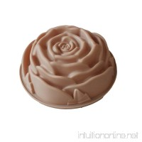 "X-Haibei Round Rose Cake Pan Baking Silicone Mold Decorating Dessert 9.5"" - B013GGBFI0"