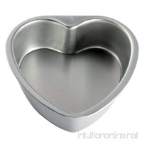 "BeneKing 4PC Aluminium Heart Shaped Cake Pan Set with Fixed Bottom- 3"" 6"" 8"" 10"" - B077ZVL5Q8"