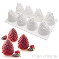 Silicone Mousse Cake Mold 3D Pinecone Shape For Easter Christmas Truffle Desserts Jelly DIY Kitchen Bakeware Tools 8-Cavity   Set of 1 - B075P8XWHM