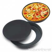Transer Non-stick Round Springform Pan Cheesecake Quiche Pizza Tart Pan Leakproof Cake Pan Loose Base Cake Baking Tin Bakeware with Removable Base - 7.9 to 9.4 Inch (Black - L) - B07BPYVHR6