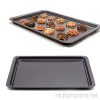 "MZCH Non-stick Rectangular Quiche Tart Pan  Baking Tray  Cookie Sheet  Black  14.5""x10"" - B06XGZXFGJ"