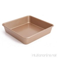 Nonstick Golden Deepen Baking Pan 8 inch Heavy-weight steel Square Sheet For oven Cake Bread Cookie mold - B07GJ5KQRN