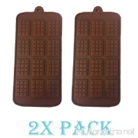 2 pack X Thin Mini Waffle Mold Chocolate DIY Tray Mould Silicone Party maker (Ships From USA) - B071YDQRZ3