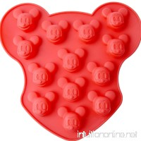 Chawoorim 16 Cavity Small Mickey Mouse Silicone Mold DIY Candy Chocolate Sugar Craft Fondant Ice Tray - B019VZPH3O
