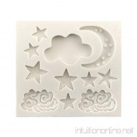 DIY 3D Cake Decorating Mold Stars Clouds Moon Shaped Mould for Baking Pastry Cookie Chocolate Silicone Molds Sugar Craft Cake Decoration Tools - B07BHFHY54