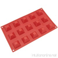 Freshware SM-101RD 15-Cavity Silicone Mini Pyramid Chocolate  Candy and Gummy Mold - B004G3WX8Y