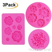 IHUIXINHE Fondant Candy Silicone Molds  3PCS Flower Daisy Roses Lotus Mold  for Sugarcraft Cake Decoration  Cupcake Topper  Polymer Clay  Soap Wax Making - B07F63Q4B7