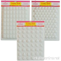 Lorann Hard Candy Making Mold Gems Set - Includes Jewels  Break Apart Hexagon  and Break-apart Rectangle - B00JICG2Z8