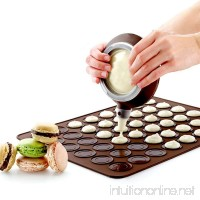 Macaron Making Set- 48 Capacity Macaron Silicone Baking Mat Mould Mode and Decorating Pen Icing Tips with 4 Nozzles (macaron set) - B077XRCD8Q