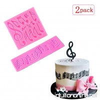 Sakolla(Set of 2) Multi Music Note Lace Silicone Mold Fondant Mat Cake Decorating Tool Candy Mold Baking Tool Cupcake Topper - B07BTBBC1S