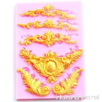 Yalulu Baroque Style Relief Lace Silicone Molds Fondant Cake Chocolate Mold Kitchen Baking Cake Border Decoration Tools - B072BN7JLT
