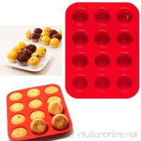 2 Mini Muffin Silicone 12 Cup Cavity Cookie Cupcake Bakeware Pan Soap Tray Mold - B01HOVUP3Y