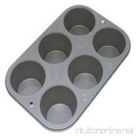 6 Cup Non Stick Steel Muffin Pan Bakeware Cupcake Baking Pan Cookie Tray Material Steel Color Silver Brand New - B01LXE7A6L
