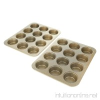 Curtis Stone Dura-Bake Set of 2 Muffin Pans - B079TCS6M5