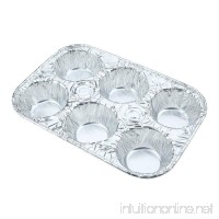 Sherri Lynne Home Disposable Aluminum Foil 6-Cup Cupcake Pans  Standard Size  Favorite Muffin Tin Size for Baking Cupcakes  Muffins  Tarts  Mini Quiches  and Mini Pies  20 Count - B072N1JGRC