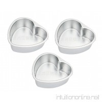 Astra shop 3 Pack Nonstick Mini Heart Shape Pie Pans with Removable Bottom 4-inch Tarts Tartlets Cupcakes Pies Cheesecakes Bread Jelly Pudding Mold - B01M4J5WAP