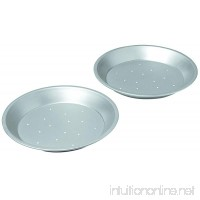 Chicago Metallic Commercial II Traditional Uncoated 9-Inch Perforated Pie Pans  Set of 2 - B003YKGRSM