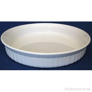Corning Ware White F-8-B Pie or Quiche Plate 8-1/2 - B00XIBCRY0