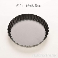 Pie Cake Tart Removable Non Stick Bottom Baking Pastry Mold Pan New Arrived! (6 inch) - B073F7SQKQ
