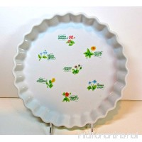 "Anchor Ovenware Quiche Dish Floret Pattern fluted Edge white 10""d 1 Qt. - B00DGODZDG"