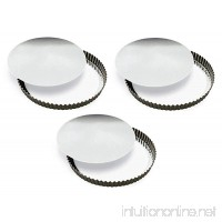 GOBEL 126420 8 (20cm) TIN Rem.Fluted Quiche Pan - SET OF 3 - [ GREAT VALUE! ] - B07G8QFCR2