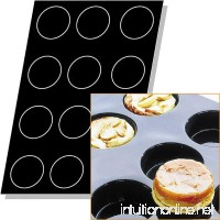 Matfer Bourgeat Silicone Flexipan 8 Oz. Quiches / Tart Mold 12 Cups Black 336049 - B00TI5GTOY