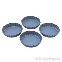 Set 4 Mini Quiche Tins - Fixed Base - 10cm x 2cm - B01BV2CRQU