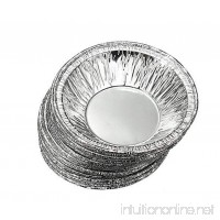 100PCS Disposable Aluminum Foil Pie Dishes Cake Cases Cupcake Cookie Pudding Egg Tart Lined Mold Round - B077JM1ZLP
