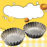 Fashionwu 6 PCS Cake Tool Reusable Stainless Steel Egg Tart Mould Cupcake Fruit Tart - B07CYYHV38