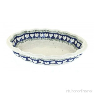 Blue Rose Polish Pottery Cupid Scallop Baking Dish - B072HP3G5M