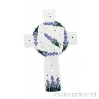 Blue Rose Polish Pottery Lavender Fields Cross - B07DYYH8BJ