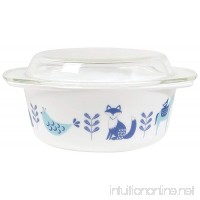 Blue and Teal Meadowland Creatures Glass Baking Dishware with Clear Lid Small - B01AV65HDC