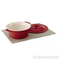Cuisinart CCB630-25R Chef's Classic Ceramic Bakeware-3 Quart Round Covered Baker  Red - B01MZ1JBDK