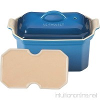 Le Creuset Heritage Stoneware 3/4-Quart Pate Terrine with Press  Marseille - B007K7ZDK8
