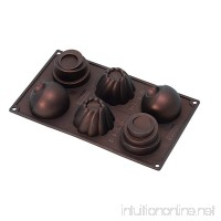 Pavoni FR061 Platinum Silicone Home Edition Pavoflex-Round Cups Multi-Tray Bake Mould  Metallic Brown - B006LKSKK0