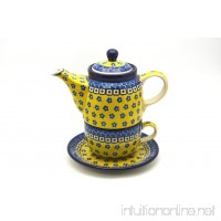 Polish Pottery Tea Time for One - Sunburst - B00OU6IJQW