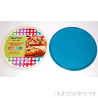 casaWare Ceramic Coated NonStick 13.5-Inch Pizza Pan (Cream/Blue) - B00HXXLM9K