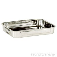My Basics Oven Baking Pan Roasting with Drop Handles Stainless Steel 16 Inches - B007K4ZMPM