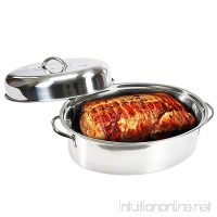 Stainless Steel Oval-shaped 16? Turkey Roaster - B01M7VOF6L