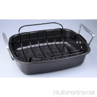 SunCity Non-stick Roaster with Rack  Graphite Grey - B016D7Q5V6