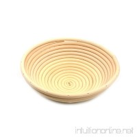 AngelaKerry 1pcs 21x7cm (8 Diameter) Banneton Brotform Round Bread Proofing Basket Handmade - B01BY6Q01G