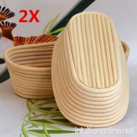 Jeteven 11 inch Banneton Bread Proofing Basket with Liner Oval Perfect Brotform Proofing Rattan Basket for Making Beautiful Bread Pack of 2 - B0784X7ZCQ