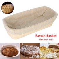 Jeteven 12 inch Banneton Bread Proofing Basket with Liner Oval Perfect Brotform Proofing Rattan Basket for Making Beautiful Bread - B078BHFNBM