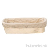 KOOTIPS 9 inch Oval Shaped Banneton Brotform Bread Dough Proofing Rising Rattan Basket & Liner Combo - B01HGKYZ3O