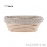 Younar Oblong Bread Proofing Baskets Fruit Basket with Linen Liner - B07FXY7QMR