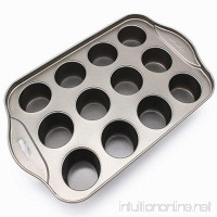 Round Bottom Mini Muffin Cake Mold DIY Paper Cup Muffin Cake Baking Tray Twelve Even Baking Tray - B07G4ZBX1G