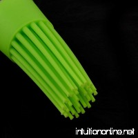 DealMux Silicone Round Head Heat Resistant Cake Cream Baking Brush Green Clear - B072SLGW65